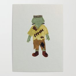 Trick or Treat Halloween Toddler Frankenstein Monster Poster