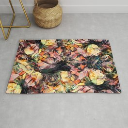 Flowers abstraction art #flowers #pattern Rug