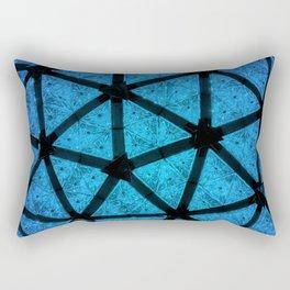 Blue Crystal Ball New York New Year's Eve Ball Drop NYC Rectangular Pillow