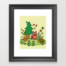 Woodland Critters Framed Art Print