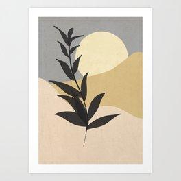 Minimal noire Art Print