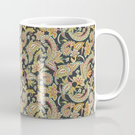 Nomad Paisley - Charcoal Coffee Mug