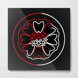 Red/White Lotus Metal Print