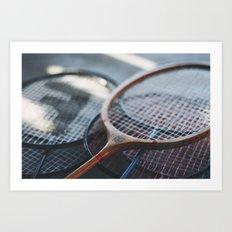 Tennis Rackets Art Print