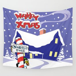 Christmas in North Pole Wall Tapestry