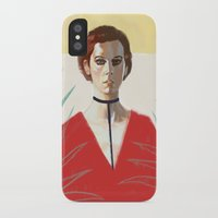 sylvia plath iPhone & iPod Cases featuring Sylvia Kristel by Alexander Grahovsky