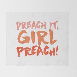 Preach it, Princess Peach! Throw Blanket