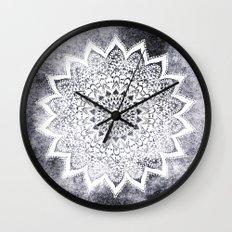 BOHO WHITE NIGHTS MANDALA Wall Clock