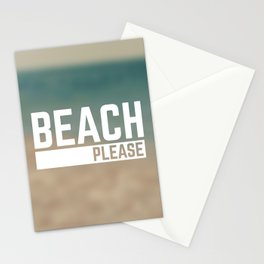 Beach Please Funny Quote Stationery Cards