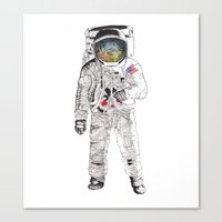 astronaut Canvas Prints featuring Astronaut by James White