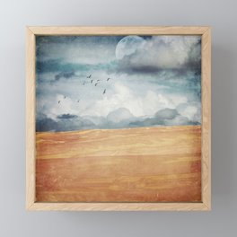 Where Land Meets Sky Framed Mini Art Print