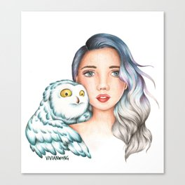 "Element Girls Drawing - ""Air"" Canvas Print"