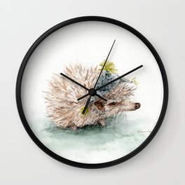 kiwi with a hat Wall Clock