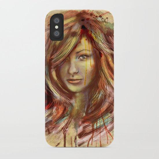 Olivia Wilde Digital Painting Portrait iPhone Case
