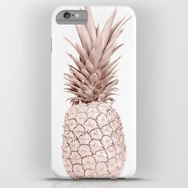 Pineapple Rose Gold iPhone Case