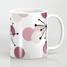 Atomic Age Molecules Starbursts Pink Coffee Mug