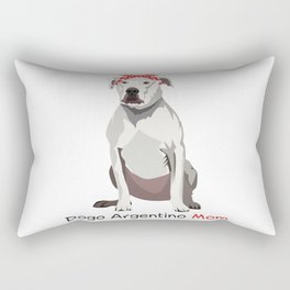 Dogo Argentino Mom Retro Mothers Day Gift Idea Rectangular Pillow