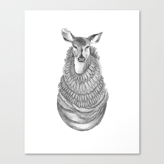 Feathered Deer.  Canvas Print