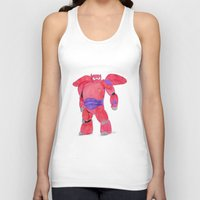 baymax Tank Tops featuring baymax  by Art_By_Sarah