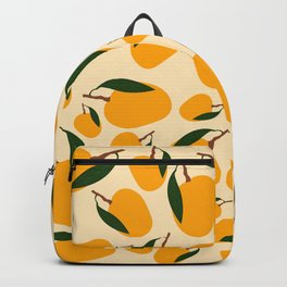 Mango Summer Fruit Pattern Backpack