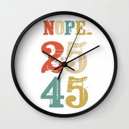 Support 25th Amendment Funny Anti Trump Vintage Retro Gift Wall Clock