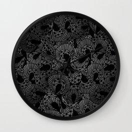 Pretty Grey/Gray Lace Pattern Wall Clock