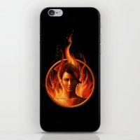mockingjay iPhone & iPod Skins featuring THE MOCKINGJAY by John Aslarona