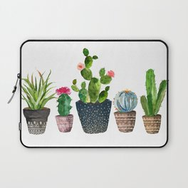 Watercolor cactus trio | hand painted cactus print Laptop Sleeve
