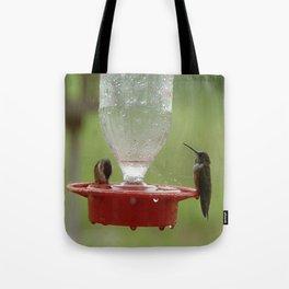 Hummingbirds in the Rain Tote Bag