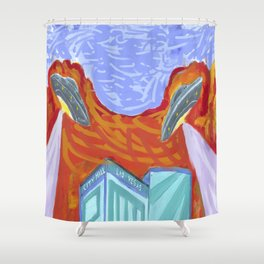 ALIEN FLYING SAUCERS Shower Curtain