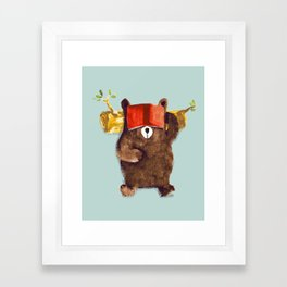 No Care Bear - My Sleepy Pet Framed Art Print