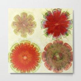 Gingles Style Flowers  ID:16165-084302-93370 Metal Print