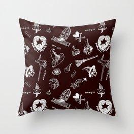 Magic symbols Throw Pillow
