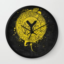 NYC Token (Black) Wall Clock