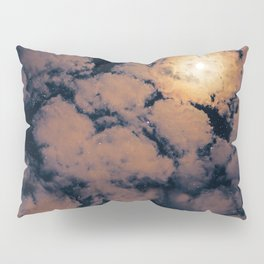 Full moon through purple clouds Pillow Sham
