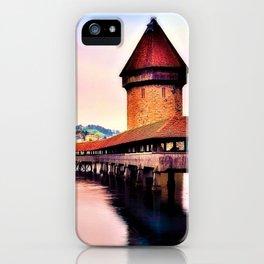 Lucerne, Switzerland Chapel Covered Bridge iPhone Case