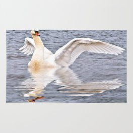Flapping Swan Rug