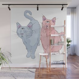 blind cats Wall Mural