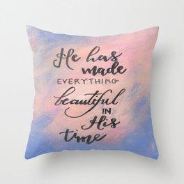 Ecclesiastes 3:11 - Scripture Print Throw Pillow