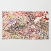 mexico Area & Throw Rugs featuring Mexico by MapMapMaps.Watercolors