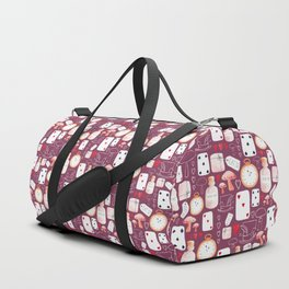 Alice in Wonderland - Purple Madness Duffle Bag