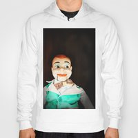 creepy Hoodies featuring Creepy Dummy by Colleen Farrell