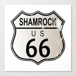 Shamrock Route 66 Canvas Print