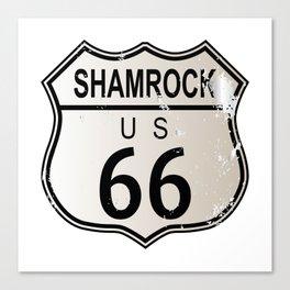 Shamrock Route 66 Canvas Print
