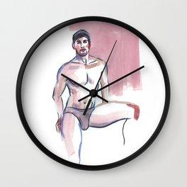 MARCUS, Semi-Nude Male by Frank-Joseph Wall Clock