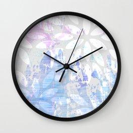 Abstract Splash Flowers Design Wall Clock