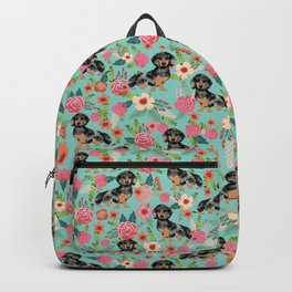 Dachshund dapple coat dog breed floral pattern must have doxie gifts dachsies Backpack