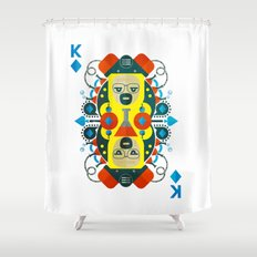 Heisenberg fan art Shower Curtain