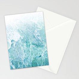 Sea Dream Marble - Aqua and blues Stationery Cards