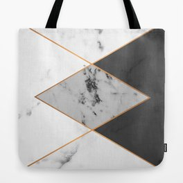 Geometric marble & copper Tote Bag